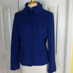 Etcetera royal blue wool blend coat
